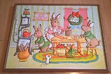 Peter Rabbit Family Christmas Quilted Fabric Picture