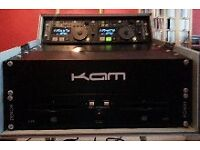 Denon DN-D6000 Dual CD/Mp3 Player & KAM Flight Case Only one owner VG condition Price £350 O.N.O.