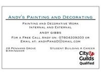 painting, painter, decorating, decorator, west Midlands, b32