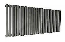 Contemporary anthracite double radiator