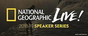 2 tickets to National Geographic Live - Sunday April 28