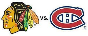 CANADIENS VS CHICAGO GRIS LE MARDI 10 OCT.(10X309A) Centre Bell,