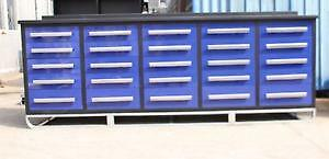 NEW 10FT HEAVY DUTY STEEL WORK BENCH GARAGE AND TOOL STORAGE