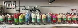 Hand made shot glass candles