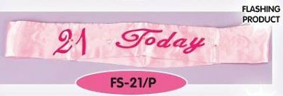 Pink Bday Sash W/ '21 Today 21st Birthday Party Accessories Decorations with - 21st Bday Sash