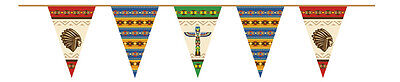 Wimpelkette Indianer 6m Mottoparty Deko Indianerparty Dekoration Western (Western Motto-party Dekorationen)