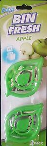 2 x Bin Freshener Dustbin Fragrance - Apple