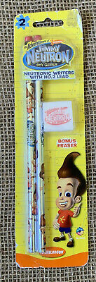 Nickelodeon The Adventures Of Jimmy Neutron Boy Genius Pencils Eraser 2002 New