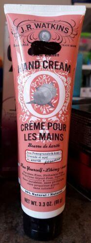 J.R. Watkins Natural Hand Cream, Pomegranate and Acai, 3.3 O