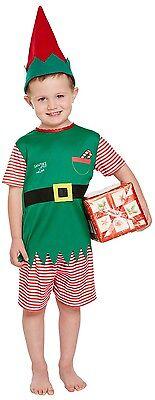 Kleinkind Jungen Weihnachtsmann Helfer Elfen Weihnachten Kostüm Kleid Outfit 3