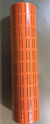 30 Rolls 15000 Tags Orange Labels For Motex Mx-5500 L5500 Mx989 Price Gun 65
