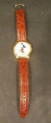 "Vintage Disney Mickey Mouse Quartz Watch by Lorus ""V52F-OA18 HR2"" Mov't Japan"