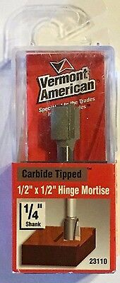Vermont American 23110 12 X 12-14 Shank Hinge Mortise Carbide Router Bit