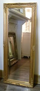 Cannes Gold Shabby Chic Full Length Antique Dress Mirror 52