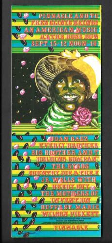 Janis Joplin Byrds Frank Zappa Everly Bros Concert Handbill 1968 Fillmore Era