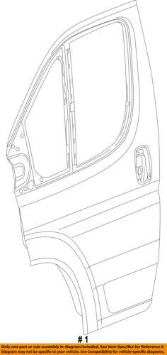 Ram CHRYSLER OEM ProMaster 3500 Front Door-Shell Frame Panel Right 68189170AB