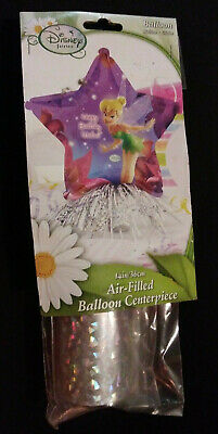 NIP- Disney Fairies 14 Inch Air Filled Balloon Centerpiece- Happy Birthday Wishe