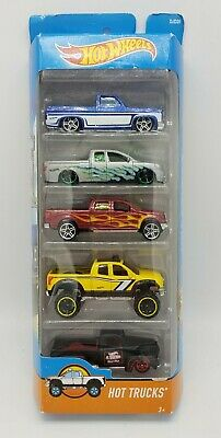 Hot Wheels HOT TRUCKS 5 Pack - Silverado Titan F150 Tundra F1 Hot Rod Chevy 2016
