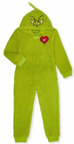 Dr. Seuss The Grinch One Piece Pajamas Union Suit Boy Girl 4 6 6X 8 10 12 14 16