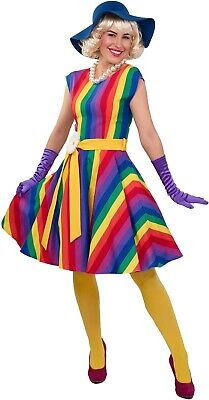 1920s Style Outfits (Ladies 1920s Style Rainbow Pride Fancy Dress Costume Outfit UK 8-22 Plus)