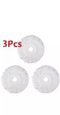 Lot (3) Replacement Microfiber Mop Head Refill for Hurricane 360° Spin Magic Mop Mop Head Refill