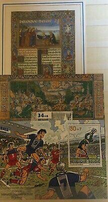 Belgique België, 3 Blocs de timbres neufs MNH, bien