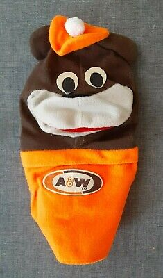 Vintage A&W Root Beer Mascot Rooty the Bear Hand Puppet