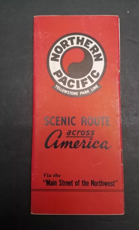 1947 Northern Pacific Railroad Yellowstone Park Line Illustrated Brochure
