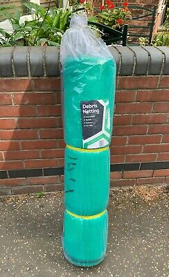 GREEN DEBRIS NETTING 2M X 50M ALLOTMENTS GARDEN SCAFFOLDS BIRD INSECT NETTING