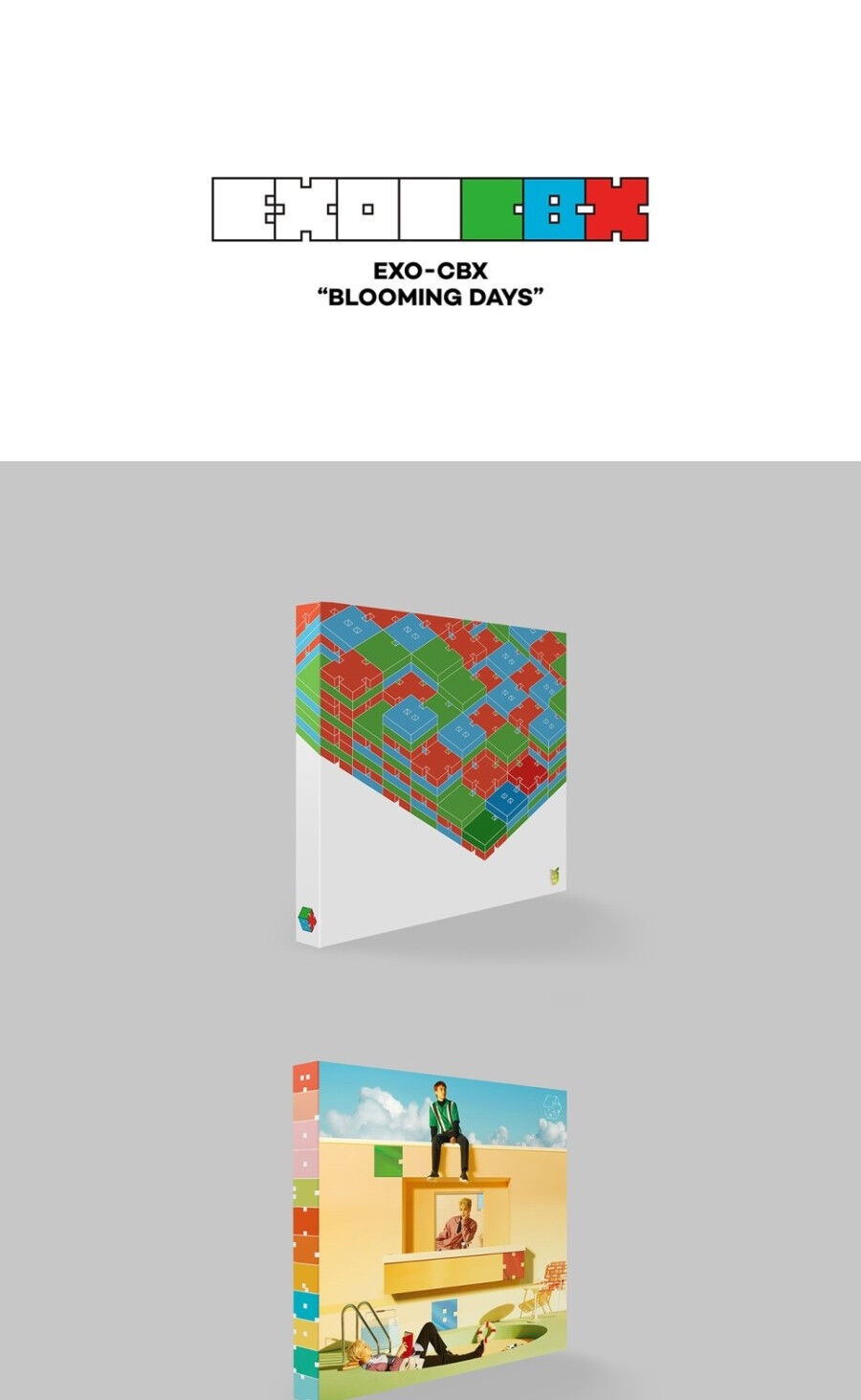 Exo Cbx Blooming Days 2nd Mini Album Cd Poster Pbook Card Sticker Kode 05 07 Lazy