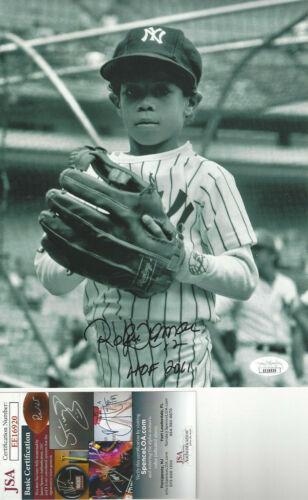 HOF Roberto Alomar autographed 8x10 NY Yankee  photo as a kid JSA Certified