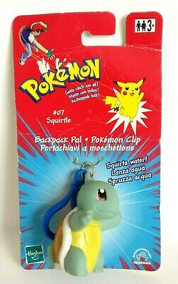 Pokemon Squirtle #07 Backpack Pal Pokemon Clip Hasbro 1998/2000 - Rare