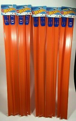 """Hot Wheels Track Builder 24"""" Pieces Lot Of 5 Orange Track 10 Connection Racing"""