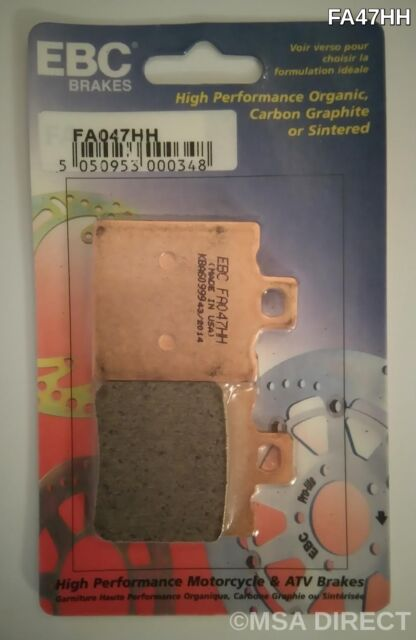 Ducati 748 (1995 to 2002) EBC Double-H Sintered REAR Brake Pads (FA47HH) (1 Set)