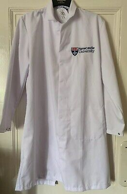 Brand New Newcastle University Scrubs Lab Coat White Embroidered XL Extra Large
