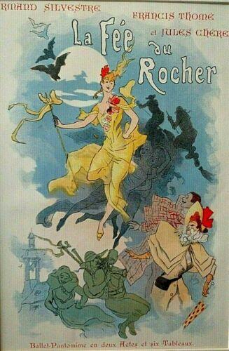 Totally Authentic *La Fee au Rocher* Ballet Handbill - Lithograph *Not Copy