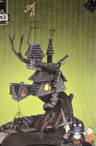 Dept 56 LOCK SHOCK AND BARREL TREEHOUSE Set of 2 NIGHTMARE BEFORE CHRISTMAS D56