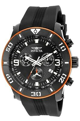 Invicta Men's Pro Diver 19827 52mm Black Dial Polyurethane Chronograph Watch