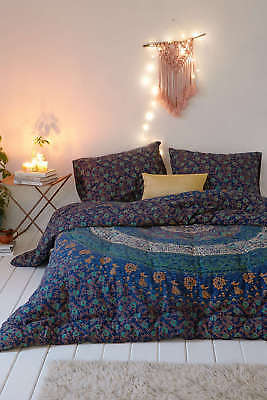 Urban Outfitters Quilt ( Indian Urban Outfitters Elephant Mandala Duvet Doona Cover Reversible Quilt Set )