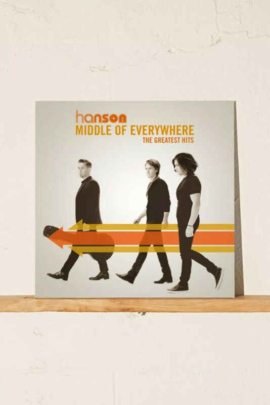 Hanson Middle of Everywhere The Greatest Hits Limited 3XLP Limited Orange Vinyl