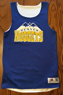 NBA Basketball Denver Nuggets Reversible Jersey S Blue and White #3
