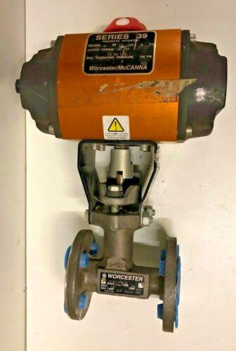 "Worcester Series 39 Pneumatic Actuator 1539SX120A4R6 w/ 1/2"" Flange Ball Valve"