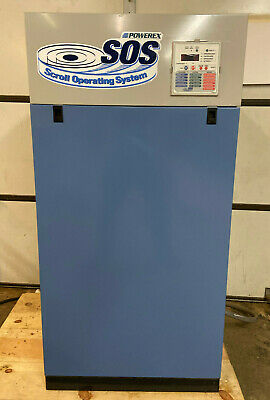 Powerex Oil Free Scroll Air Compressor Sed1007 30a. Low Hours Excellent Cond.