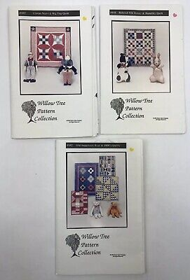 Willow Tree Pattern Quilt Co Quilting Patterns Lot of 3 Assorted Circus Stars ()