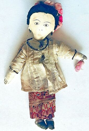 "VINTAGE CULTURAL ETHNIC 13"" DRESS DOLL"