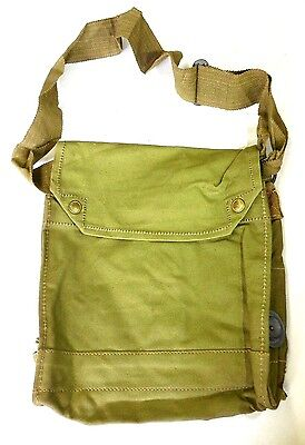 INDIANA JONES BRITISH WW2 MK VII GAS MASK BAG SATCHEL(1942) (EXC. COND.)