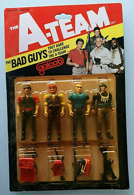 "VINTAGE A-TEAM A TEAM BAD GUYS SET 3.75"" ACTION FIGURE 4 PACK NEW GALOOB 1983"
