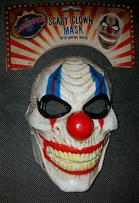 HALLOWEEN Maske Horror-CLOWN Clownmaske Gruselmaske Joker NEU Es - Joker Clown Maske
