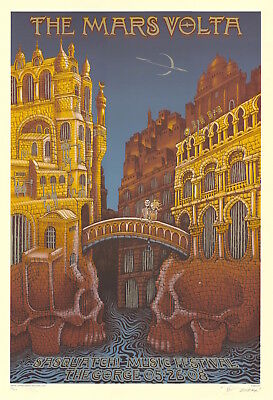 OFFICIAL THE MARS VOLTA PRINT BRIXTON ACADEMY POSTER W NOBODY