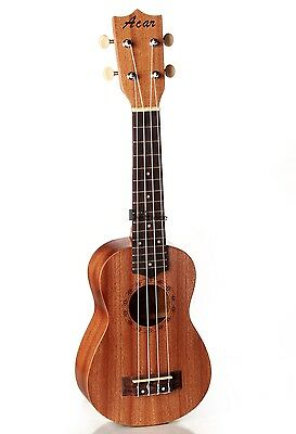 Vintage 21 inch Acoustic Soprano Ukulele 4 String Guitar Wood Musical Instrument